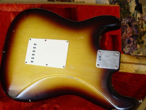 Vince Cunetto Strat Fender Sunburst Back