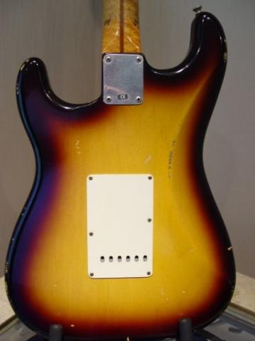 Fender Custom Shop Relic Stratocaster Sunburst Back