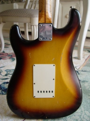 Fender Custom Shop Relic Stratocaster Rear