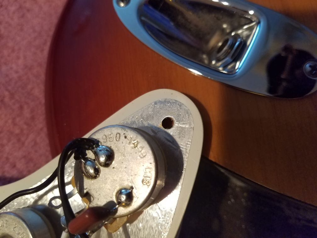 Pickup Fender Wiring  Potientiometer American SSH Shawbucker Stratocaster-Professional
