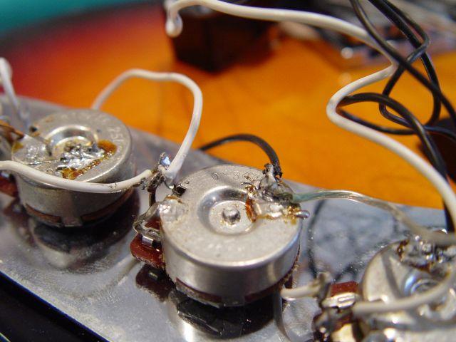 Fender Jazz Bass Volume Pot Tone Pot Wiring