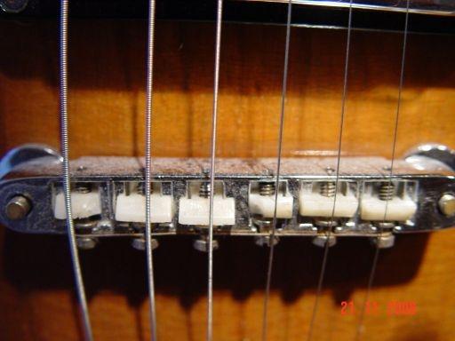 Bridge Plastic Saddles Vintage Gibson SG Deluxe
