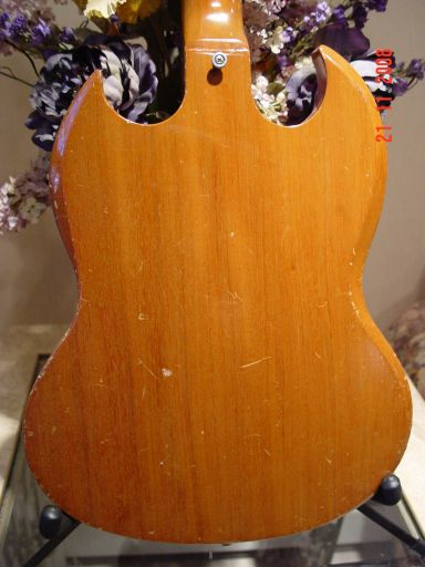 Rear Vintage Gibson SG Deluxe