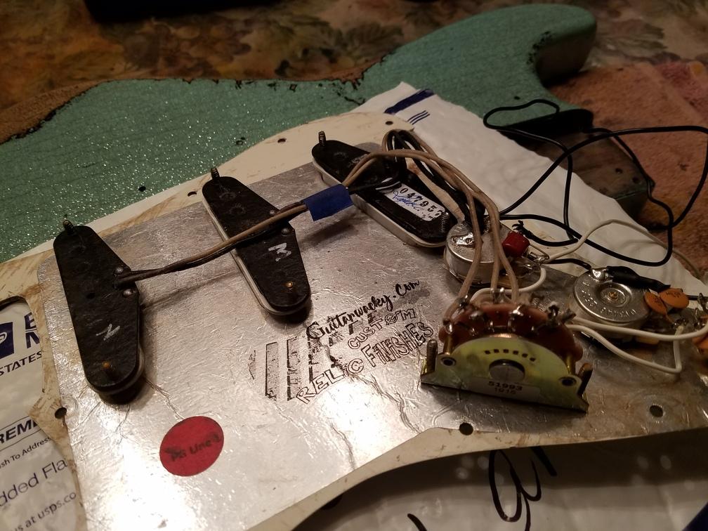 Seymour Duncan Antiquities Hot Texas pickups Wiring Pickguard