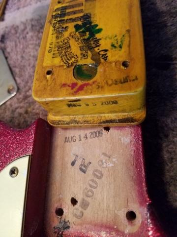 Fender Telecaster Custom Sparkle Relic Neck Pocket