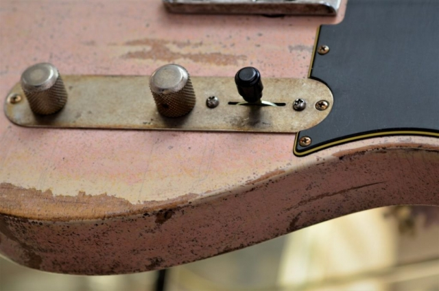 Shell Pink Fender Relic Guitar