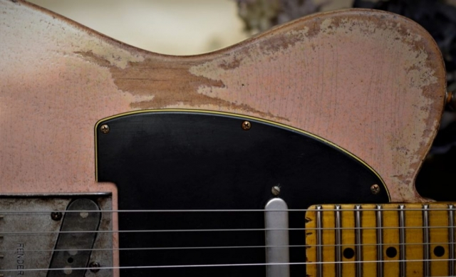Shell Pink Fender Tele Relic Guitar