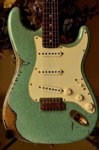 Fender Strat heavy relic sea foam green Bridge