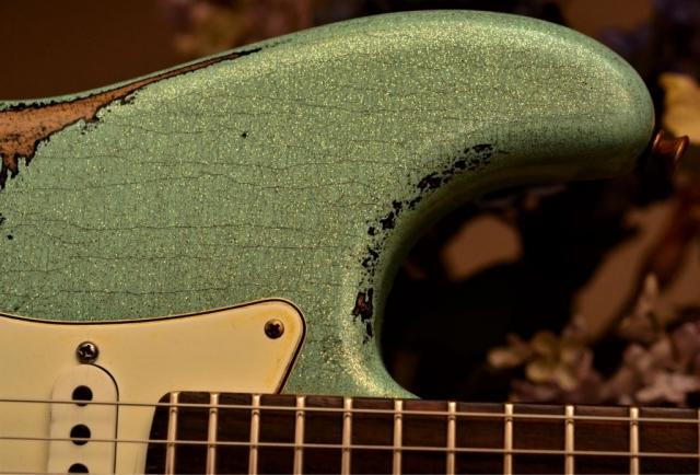 Fender Custom Strat heavy relic sea foam green metal flake