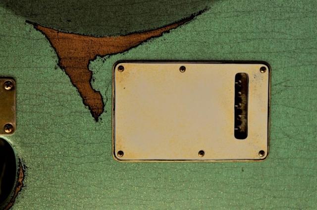 Finish Checking Fender Custom Strat heavy relic sea foam green