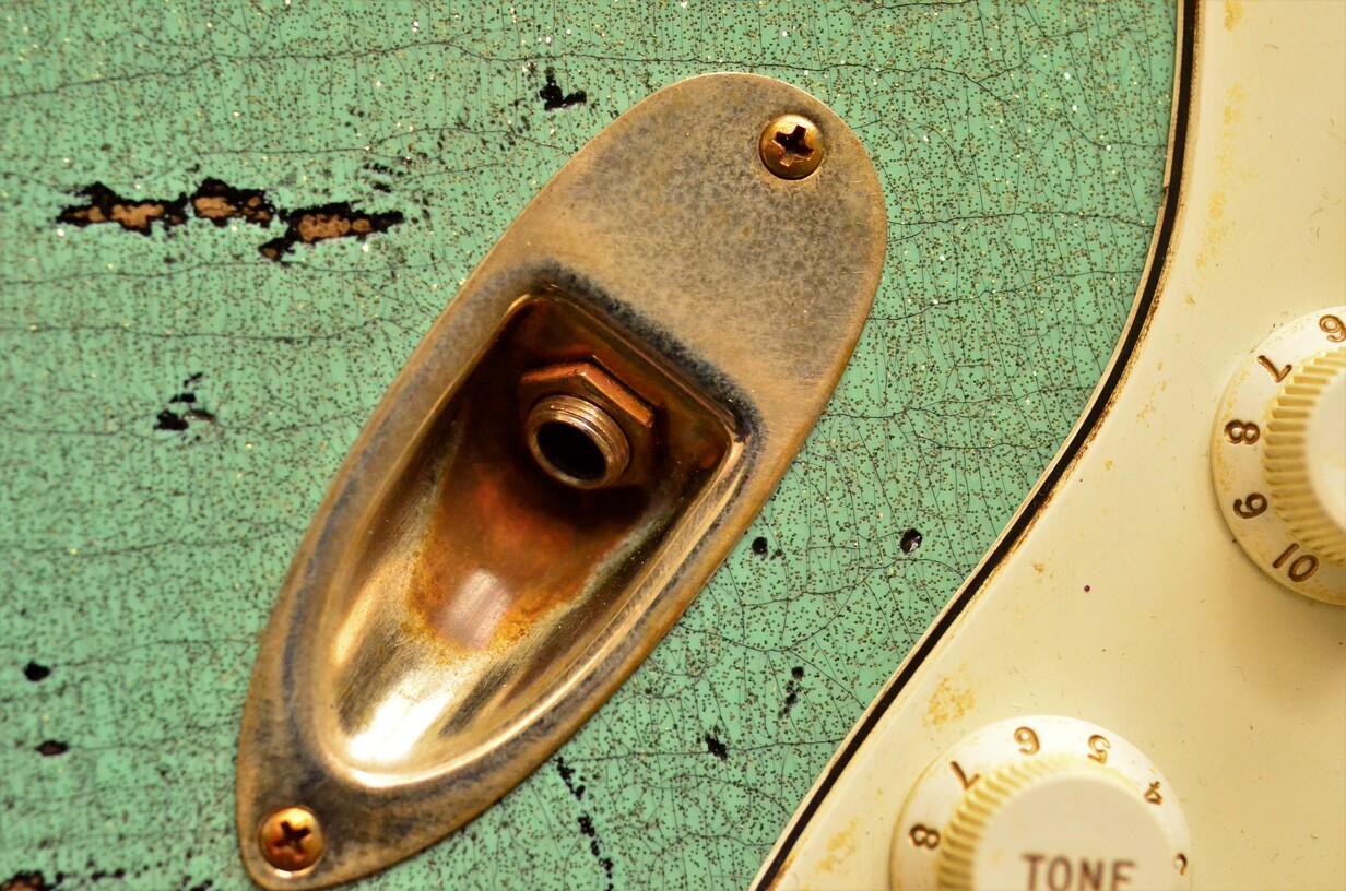 Nitro Lacquer Fender Custom Strat heavy relic sea foam green
