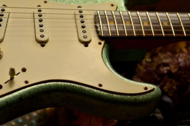 Rosewood Neck Fender Custom Strat heavy relic sea foam green