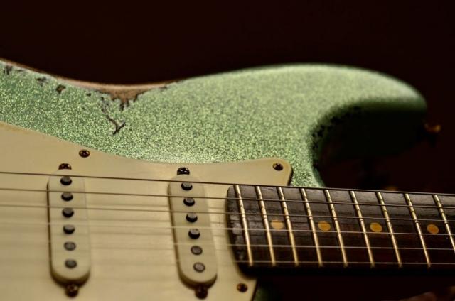 Rosewood Neck Frets Fender Custom Strat heavy relic sea foam green