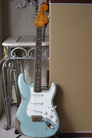Fender Custom Strat heavy relic sea foam green