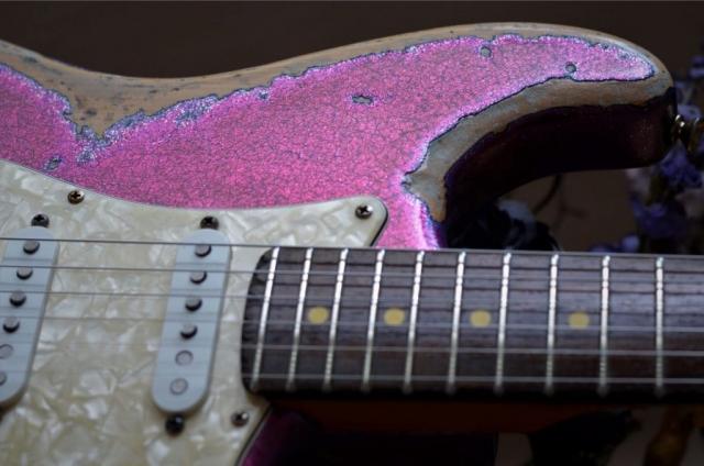 Fender Magenta Sparkle Metal Flake Stratocaster