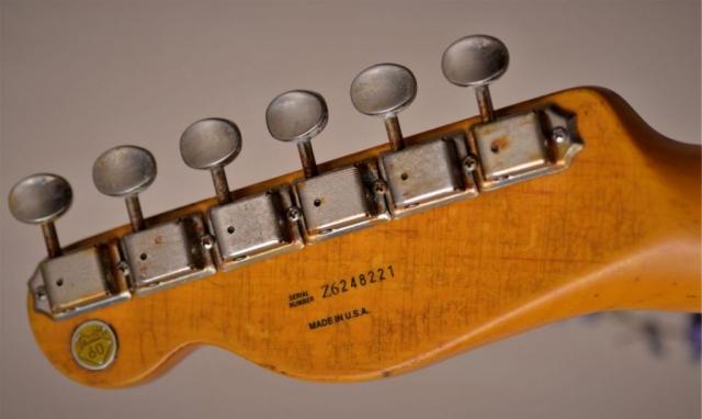 Rear Headstock Fender Telecaster Heavy Relic