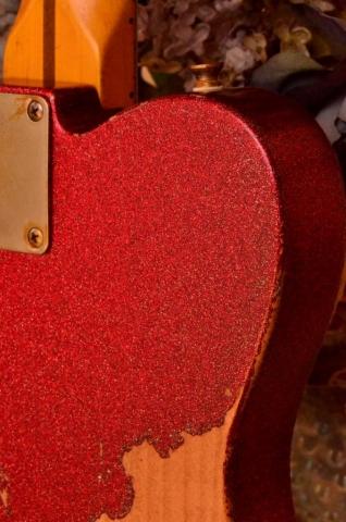 Fender Telecaster Custom Red Sparkle Heavy Relic