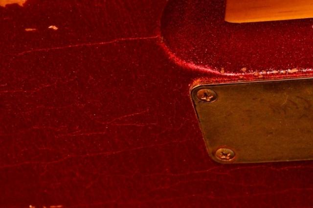 Fender Telecaster Custom Red Sparkle Neck Plate
