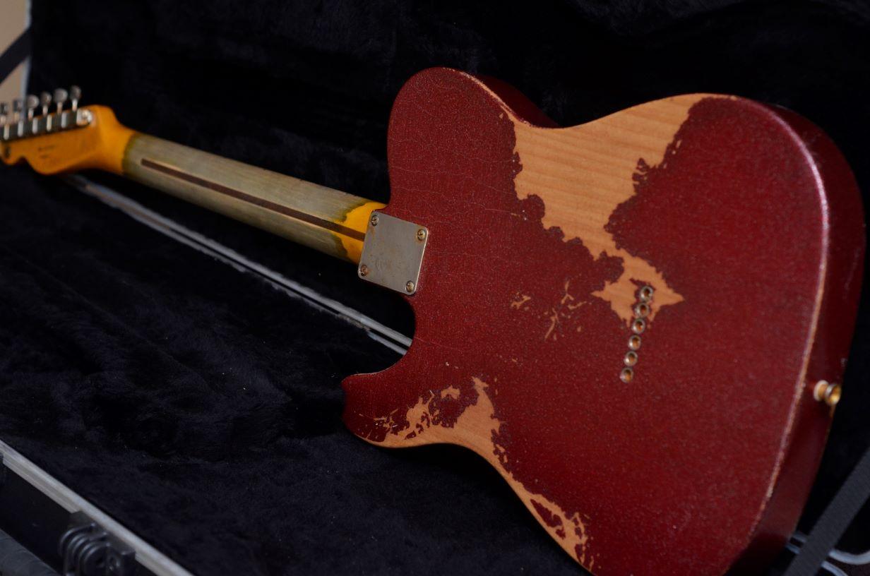 Back Fender Telecaster Custom Red Sparkle Heavy Relic