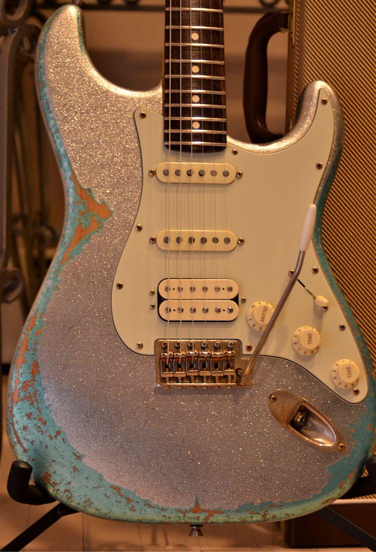 Fender Silver Sparkle Metal Flake Stratocaster
