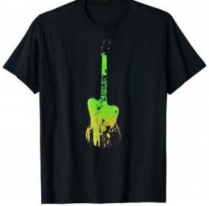 Psychedelic Tie Dye Guitar T-Shirt