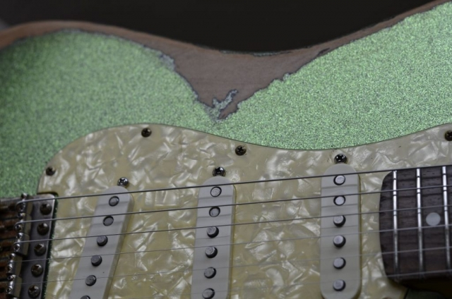 Fender Stratocaster Heavy Relic Lime Green Wear