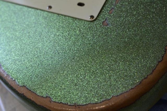 Fender Stratocaster Heavy Relic Sparkle Back Plate