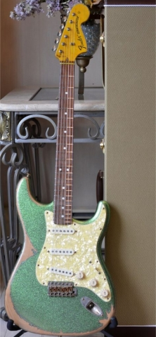 Fender Stratocaster Heavy Relic Green Sparkle