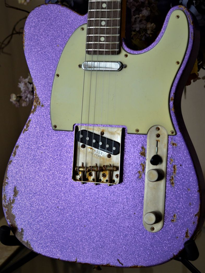 Custom Fender Telecaster Relic Purple Sparkle