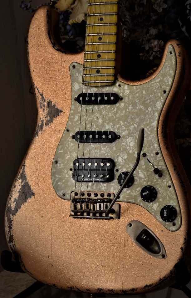 Fender Stratocaster Relic Custom Orange Sparkle
