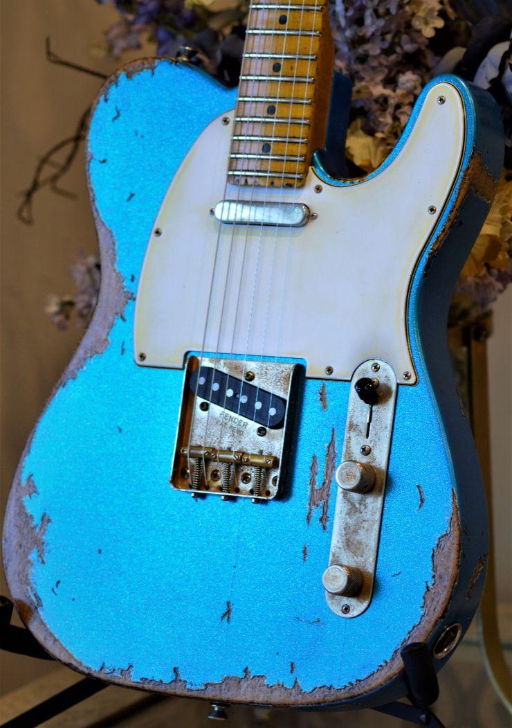 Custom Fender Telecaster Relic Blue Sparkle