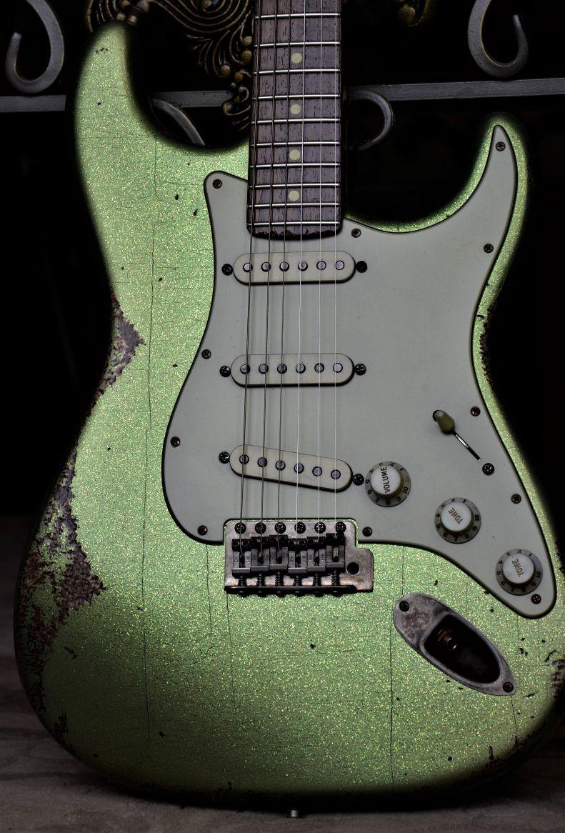 Fender Stratocaster Custom Heavy Relic Green Sparkle