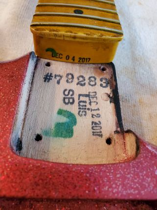 Neck Pocket Strat Number