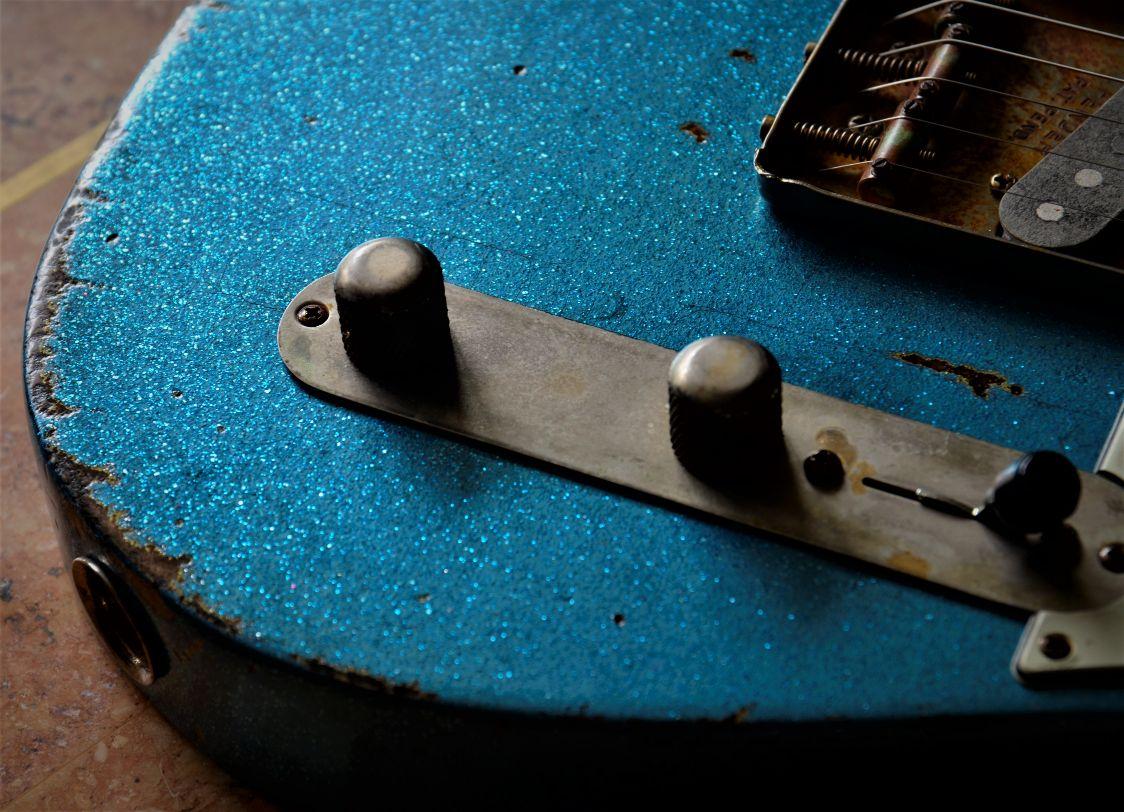 Vintage Aged Telecaster Sparkle Guitar