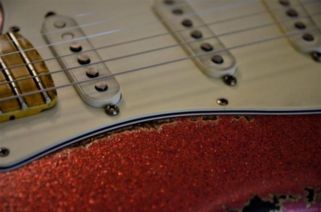 Red Sparkle Custom Fender Stratocaster Aged