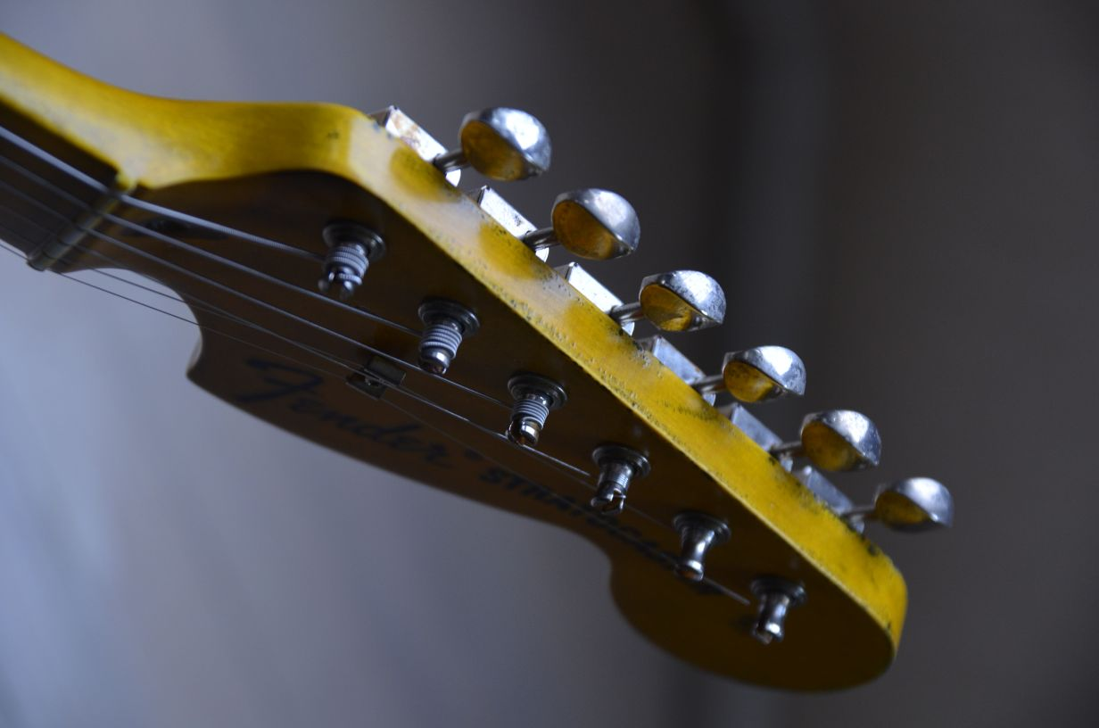 Aged Fender Headstock Maple Neck