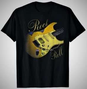Rock And Roll Vintage Guitar Style T-Shirt