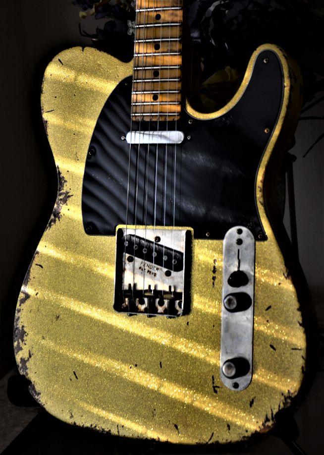 Fender Custom Telecaster Relic Gold Sparkle