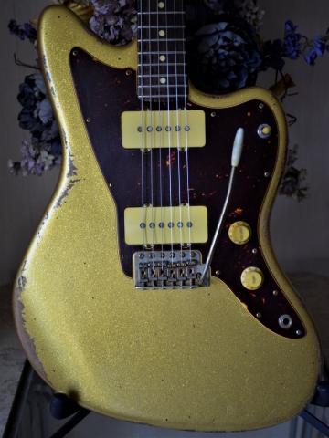 Gold Sparkle Relic Jazzmaster Custom