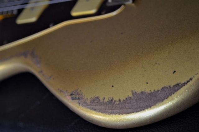 Aged Fender Jazzmaster Gold Sparkle