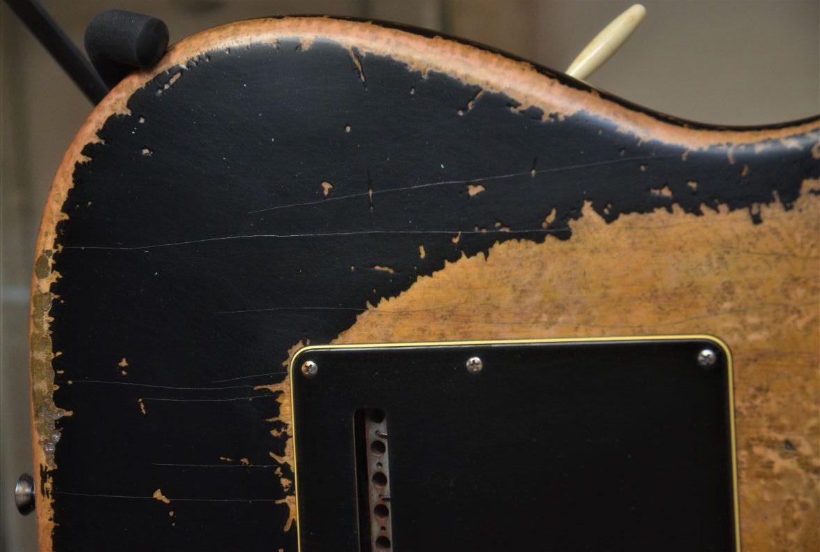 Strat Relic Fender Custom Black Back Rear
