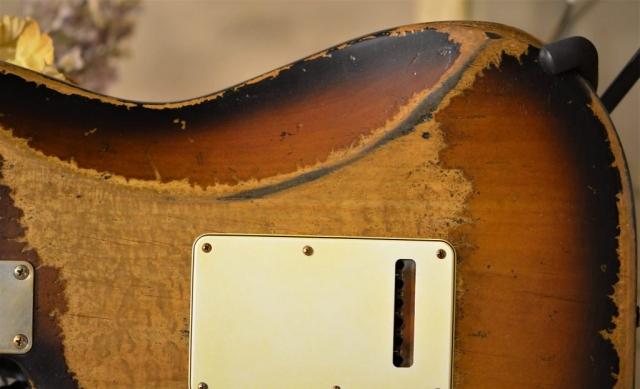 Sunburst Stratocaster Relic Back