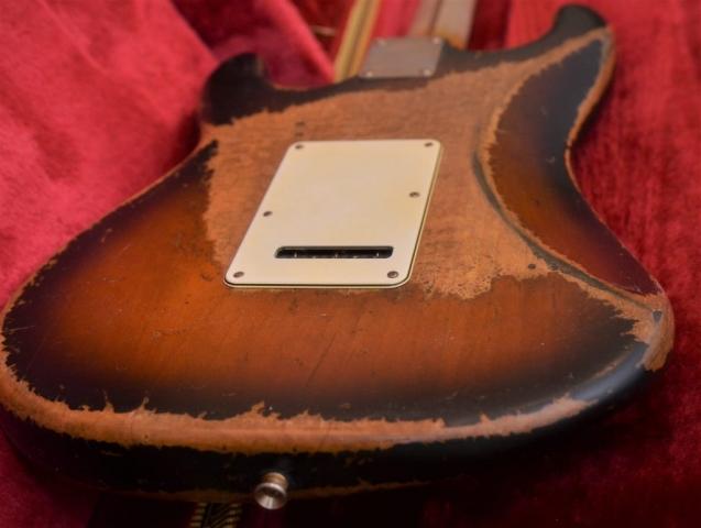 Fender Sunburst Stratocaster Relic Back