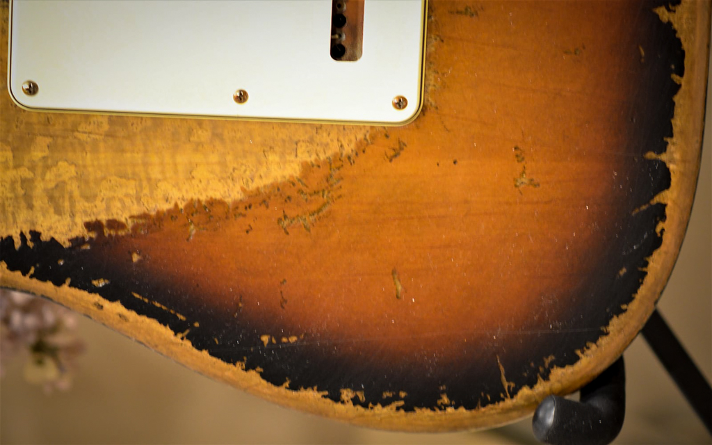 Fender Sunburst Stratocaster Heavy Relic Back
