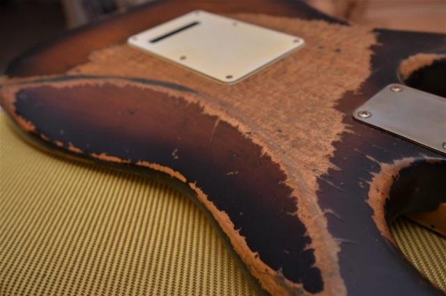 Fender Sunburst Stratocaster Heavy Relic Rear