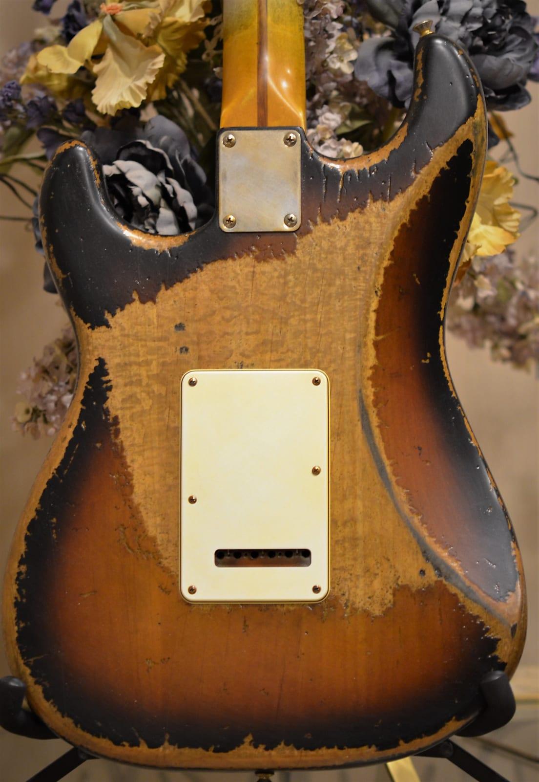 Back Fender Sunburst Stratocaster Heavy Relic