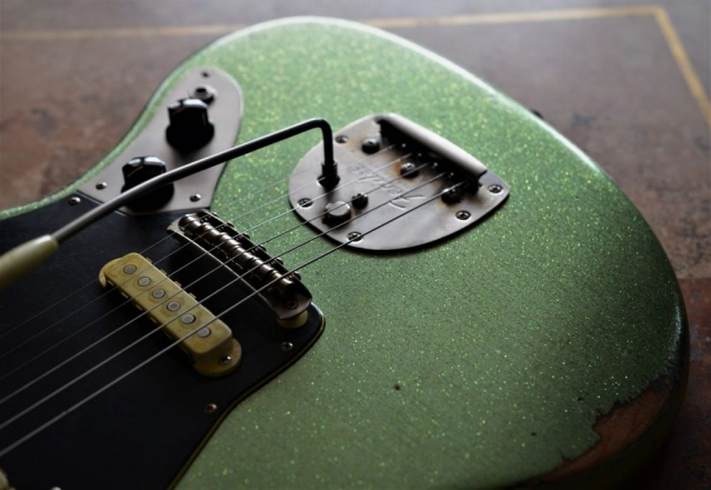 Green Sparkle Fender Custom Jaguar Guitar