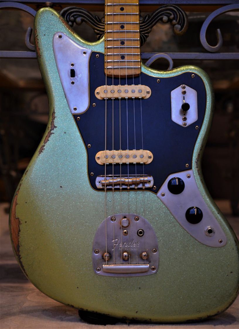 Fender Jaguar Relic Green Sparkle