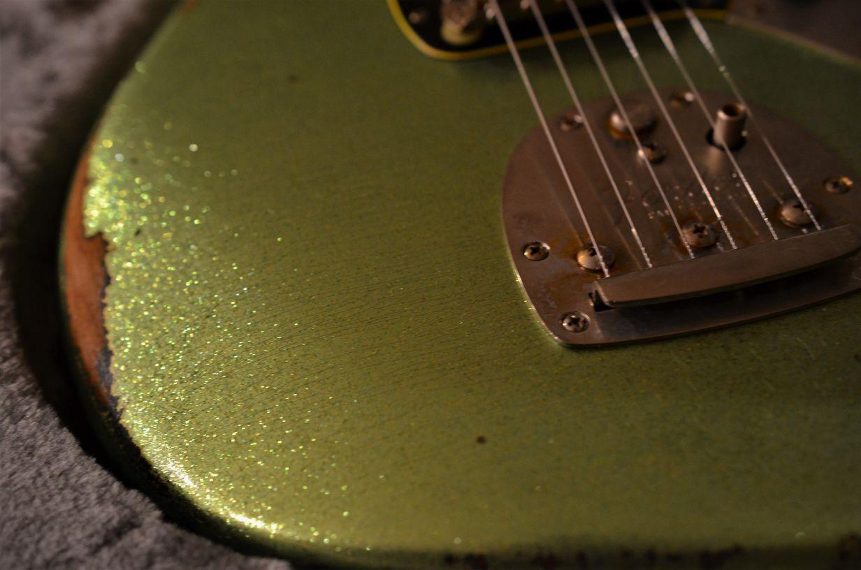 Fender Jaguar Guitar Custom Sparkle Relic